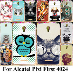 Taoyunxi Silicone Phone Case For Alcatel OneTouch Pixi First 4024 OT 4024D 4024X Housing Bag Cover Cat Dog Animal Skin Case