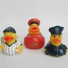 Новые 3 шт. детские игрушки для ванной милые резиновые Бейсбол/Полиция Плавающие утки ребенка играть воды