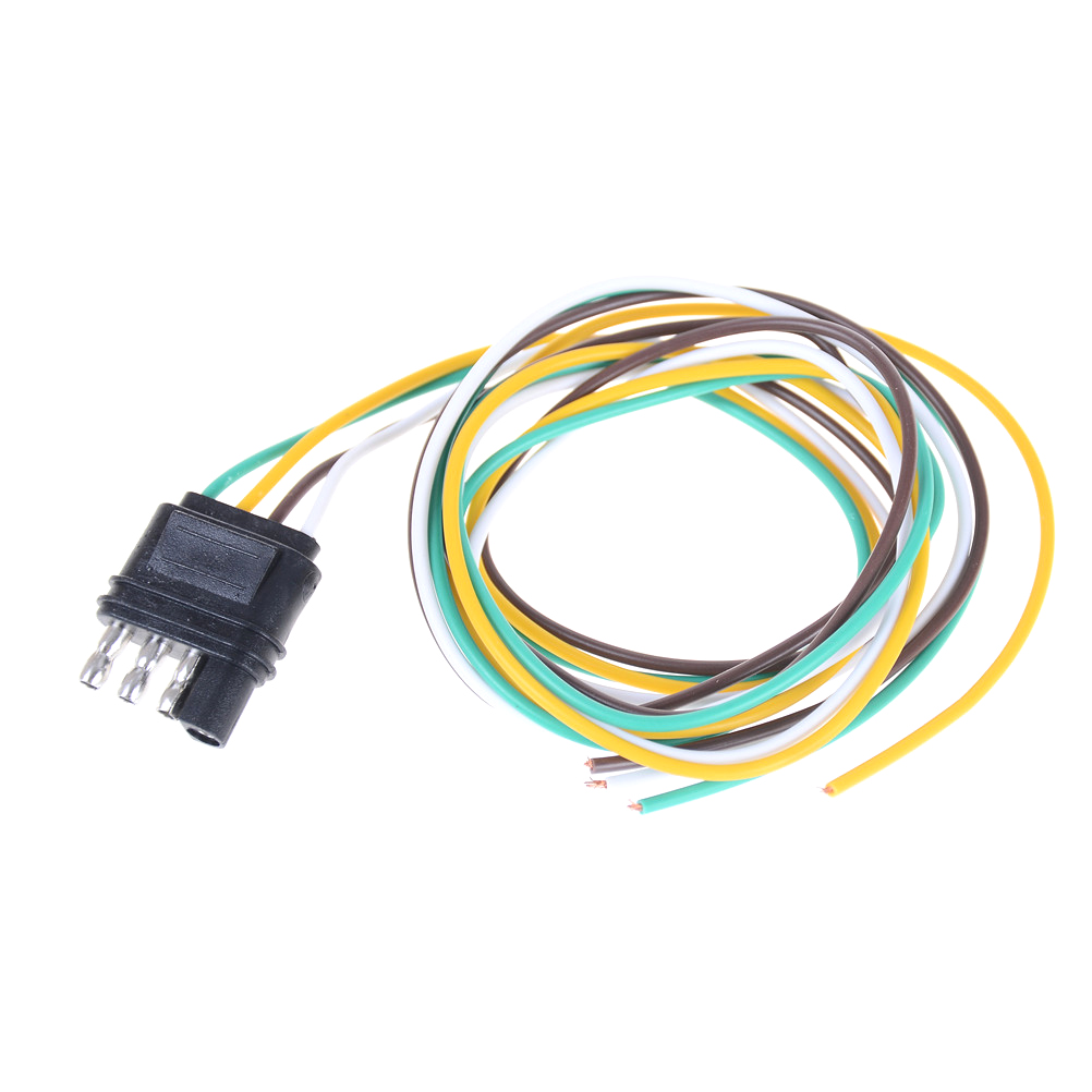 Trailer Light Wiring Harness Extension 4 Pin Plug 18 Awg Flat Wire Connector Male New In Connectors From Lights Lighting On