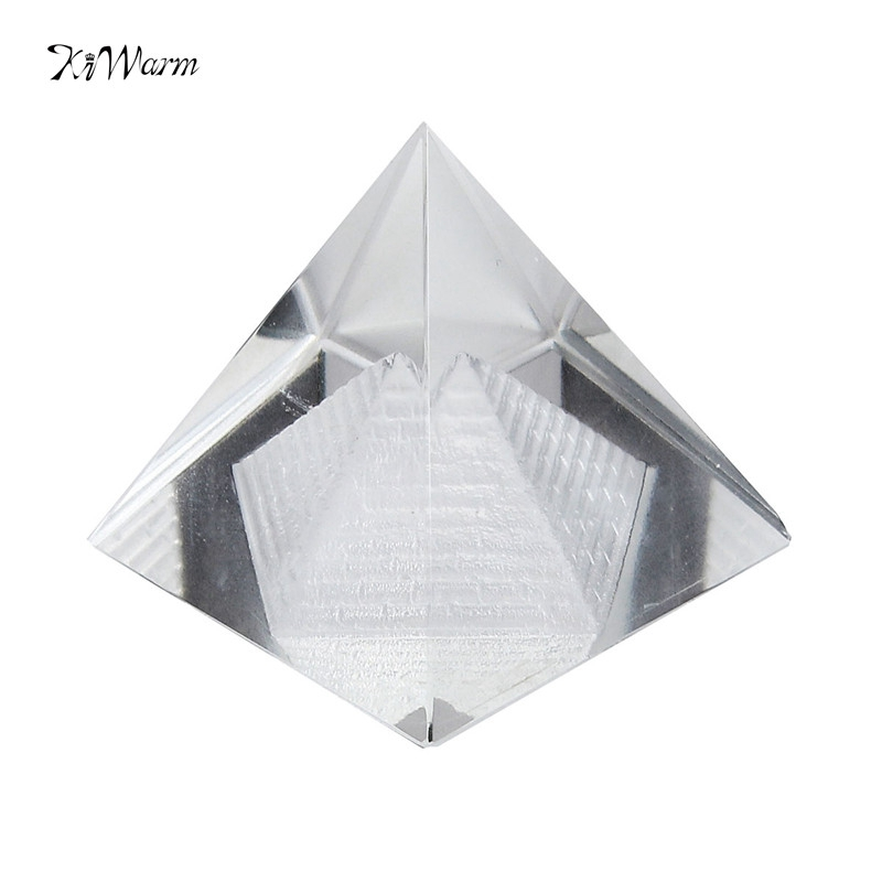 New 1PC Egypt Egyptian Natural Crystal Clear Quartz Pyramid Home Desk Decor Gift Living Room Decoration Crystal Ornament Craft