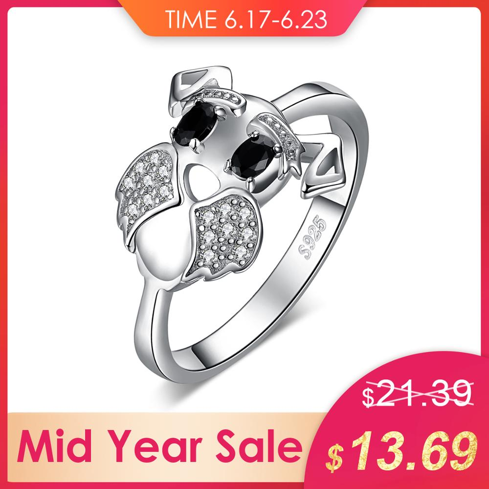 JewelryPalace Schnauzer Terrier Dog Puppy Pet Lover Genuine Black Spinel Ring 925 Sterling Silver Pet Dog Childrens GirlringJewelryPalace Schnauzer Terrier Dog Puppy Pet Lover Genuine Black Spinel Ring 925 Sterling Silver Pet Dog Childrens Girlring