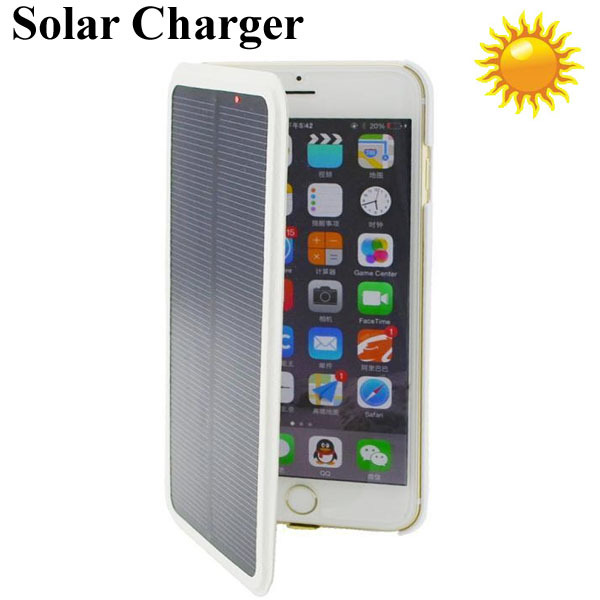 4200mAh Solar Power Bank Leather Phone Case For iphone 6
