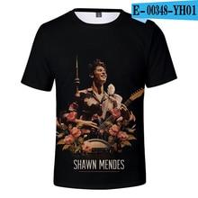 Shawn Mendes T Shirt Short Sleeve Canada Popular Singer Unisex Tees Plus Size Shawn Mendes Clothing Women Men Harajuku Kpop shawn mendes tokyo