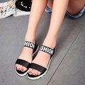 2017 verão das mulheres casuais sandálias de fundo grosso e design de correspondência de cores sapatos de praia sandálias sandálias plataforma femininos das mulheres