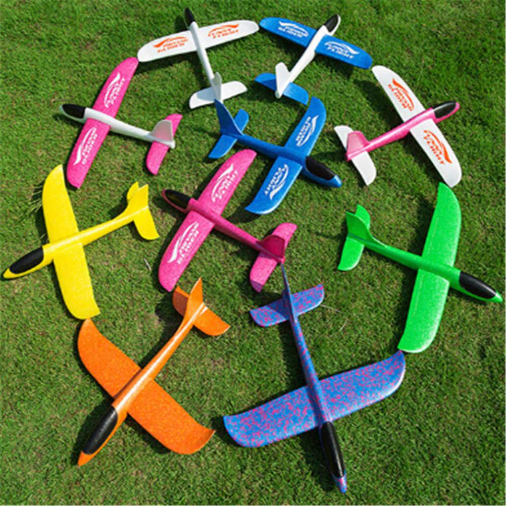 Hot Sale Tangan Melemparkan Terbang Glider Pesawat EPP Busa Pesawat Model Pesta Tas Pengisi Menyenangkan Mainan untuk Anak-anak Anak-anak Permainan mainan Luar Ruangan