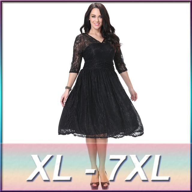 Primavera e l estate abito di pizzo nero per le donne 2016 vestiti ... 9e672e2793e