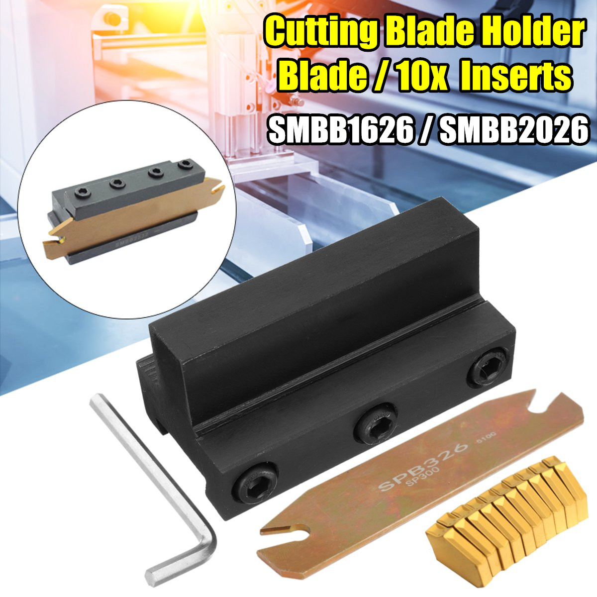SMBB1626 / SMBB2026 SPB26 -3 Cutting Blade Holder+Cut-Off Cutter Blade Inserts For GTN-3
