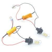 2X 1156 BAU15S P21W 42 2835 Auto Car Headlight LED Daytime Running Light Fog Light Brake