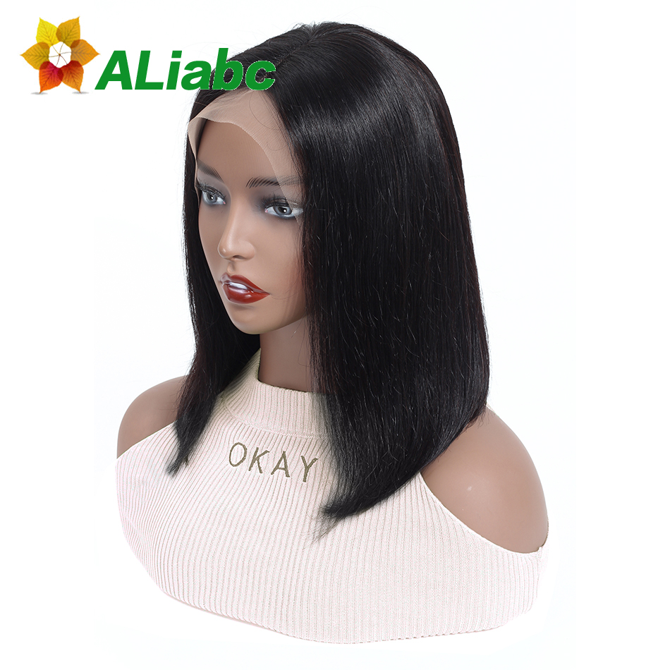 Aliabc Hair 13 4 Bob Wigs Indian Lace Front Human Hair Wigs For Black Women Natural