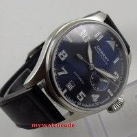 42mm Debert Blue Dial Date Sapphire Glass Power Reserve Automatic Mens Watch C88