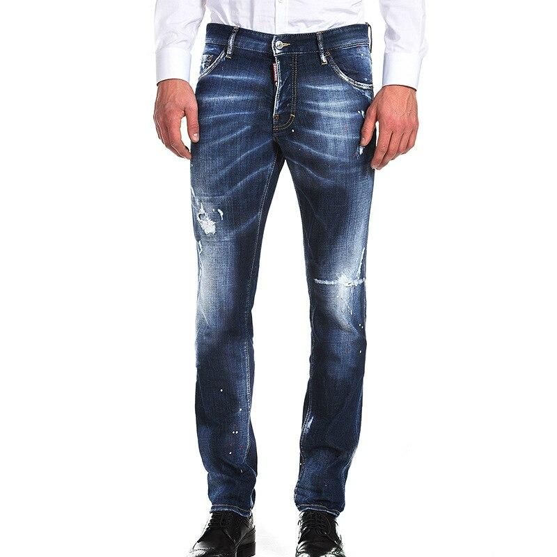Весна и лето для мужчин's мотобрюки джинсы мужские дырявые ноги хип хоп проблемных джинсы для женщин уличная мужчин одежда 2018