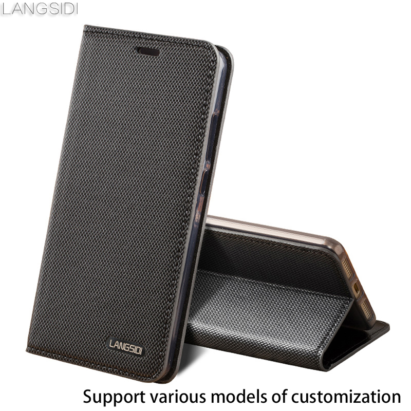 Business style Genuine Leather Case ForMeizu M2 Note Wallet Three card slots Silicone bumper Holster Cowhide flip cover