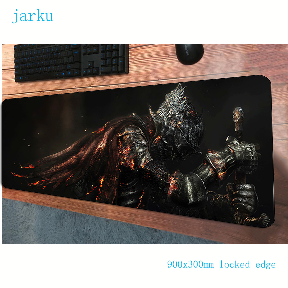JARKU 900x300x3mm Dark Souls mouse pad large gaming mousepad gamer mouse mat cheap pads game computer padmouse laptop play mat image