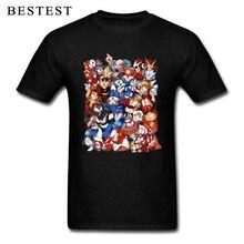 Arcade T Shirt Male 3D Cartoon Tshirt Mega Man Characters T-shirts Custom 100% Cotton Fabric Tops Clothes Black Tees Funny street t shirt if it shifts it drifts man t shirt 2019 new arrival male clothing racer black tops tees custom 100