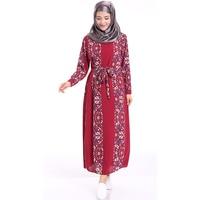 Middle Eastern Clothing Chiffon Floral Modern Islamic Clothing Muslim Women Dress Abaya Kaftan