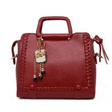 2016ใหม่แฟชั่นผู้หญิงกระเป๋าหนังPUถักซิปสีชมพูTotesปรบกระเป๋ากระเป๋าถือสุภาพสตรีกระเป๋าสะพายC Rossbody Messengerของกระเป๋า