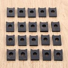 20 piezas M3 clip de sujeción para vehículo de motor de automóvil guardabarros parachoques guardia U tipo tornillo clips en la base tuerca de fijación de abrazadera