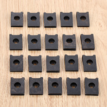 20Pcs M3 Car Fastener Clip Automobile Engine Fender Bumper Guard U Type Screw Base Clips Nut Mounting Clamp