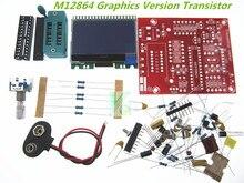 Бесплатная доставка оптовая DIY завод M12864 графика Вариант Транзистора LCR тестер комплект ЭПР ШИМ