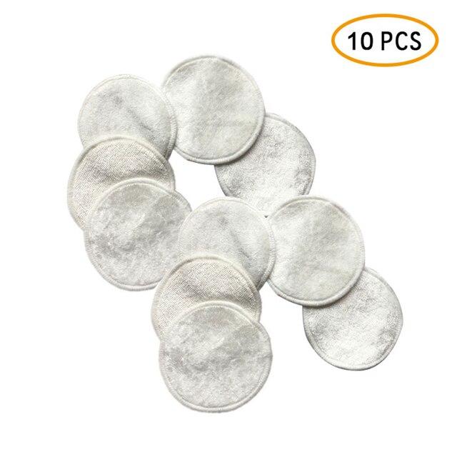 Mágico 10 pçs/lote Reutilizáveis Almofadas de Algodão Removedor de maquiagem Facial de Dupla camada Limpar Pads Nail Art Limpeza Pads Lavável dropshiop