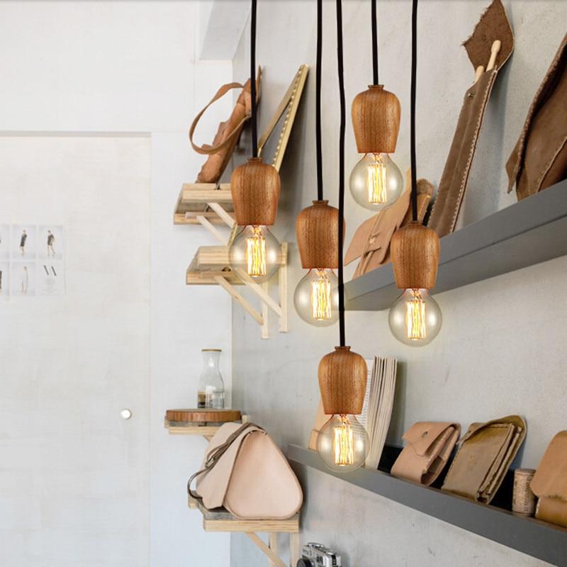 Buy Modern DIY Oak Wood Pendant Light