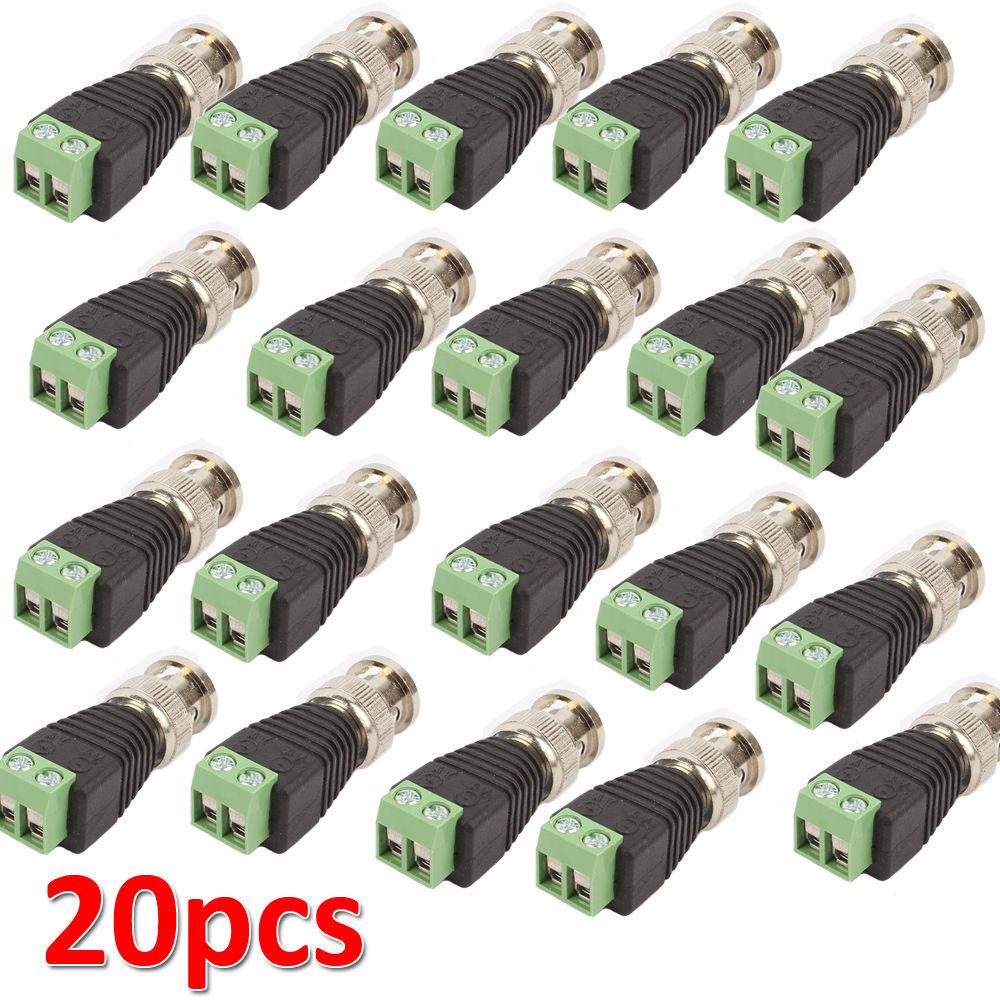 Free Shipping 20 piece Twisted BNC CCTV Video Balun passive Transceiver UTP Balun Cat5 CCTV UTP Video Balun up to 3000 ft Rang