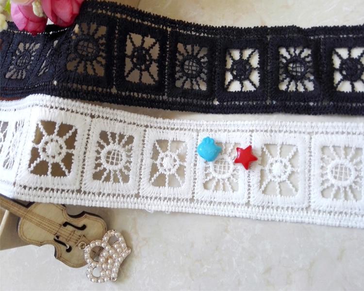 1X embroidered floral lace neckline neck collar trim apparel fabric lace arts HM
