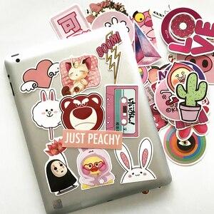 Image 4 - TD ZW 50Pcs Pink Girl Cute Cartoon Stickers For Skateboard Laptop Luggage Fridge Phone Styling Sticker