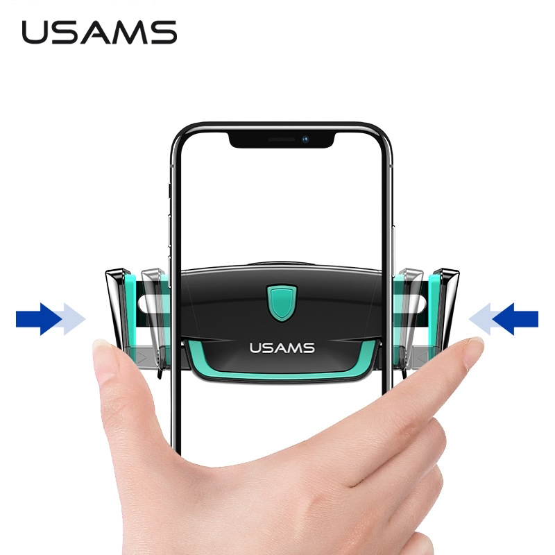 USAMS Car-Phone-Holder Air-Vent-Mount Elastic Universal iPhone for Xiaomi 360-Rotation