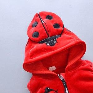 Image 4 - 2019 חורף תינוק בגדי אדיבאג כותנה חג המולד חליפת שלג לעבות חם סווטשירט חליפת עבור ילדה ילד 3 יח\סט ילדים בגדים