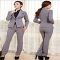 Mujeres Trajes de Negocios Oficina Formal de Los Trajes de Las Señoras Estilo Uniforme de Trabajo más Tamaño Trajes Con Pantalones Set Sml XL 3XL
