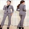 Mulheres de Negócio Ternos Escritório Formal Ternos Das Senhoras Trabalho Uniforme Estilo plus Size Ternos Com Calças Set S M L XL 3XL