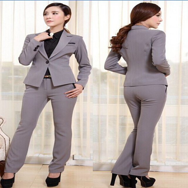 Women Business Suits Formal Office Suits Ladies Work Uniform Style Plus Size Suits With Pants Set S M L XL 3XL