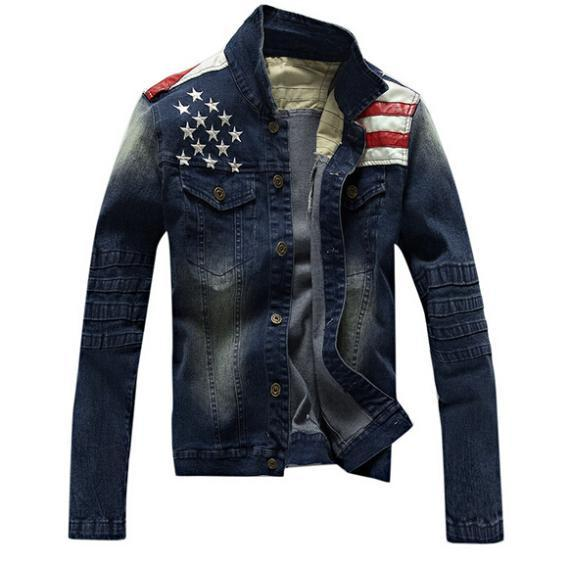 2018new Usa Design Mens Jeans Jackets American Army Style Man S