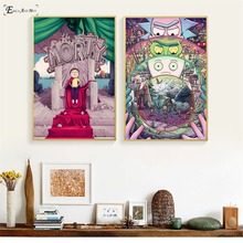 Rick And Morty Movie Cartoon Posters and Prints Wall art Decorative Picture Canvas Painting For Living Room Home Decor Unframed predator movie figure artwork posters and prints wall art decorative picture canvas painting for living room home decor unframed