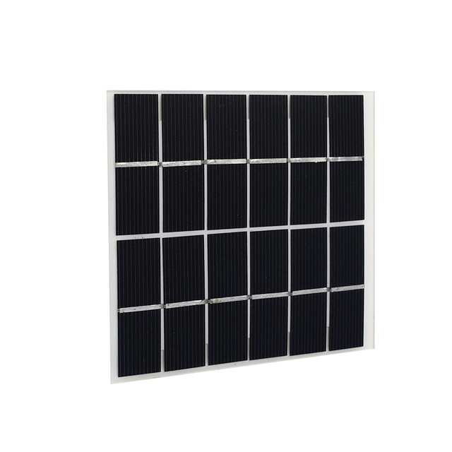 Cewaal 2W 6V Solar Panel Reusable Solar Cells Monocrystalline etfe Silicon Module Battery Charge 120 * 110mm