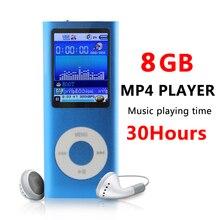 MP4 4TA Gen 8 GB 9 Colores Delgado FM Radio Vídeo Reproductor de Música Tiempo de Reproducción 30 Horas + Funda de Silicona + USB Cable + Auricular