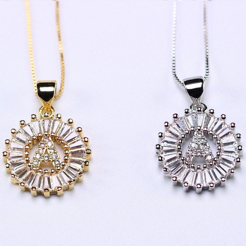 Letra do alfabeto pingente colar pequeno personalizado carta inicial colar a a z nome colar para presente de jóias femininas