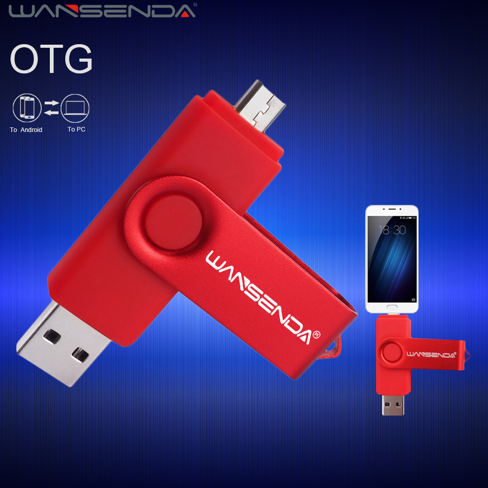 Android OTG USB Flash Drive Pen Drive 4gb 8gb 16gb 32gb 64gb Pendrive USB 2.0 Memory Stick U Disk WANSENDA S100