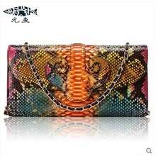 yuanyu 2017 new scorching free transport python pores and pores and skin women purse single shoulder bag inclined female bag serpentine women bag