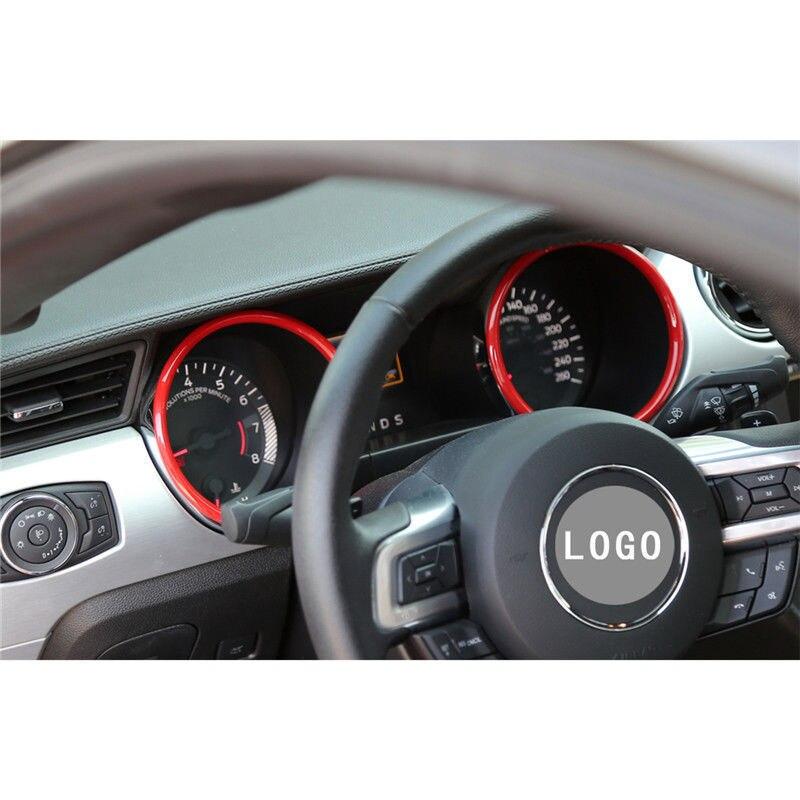 2 pièces automobile intérieur Instrument panneau décoration anneau pour Ford Mustang 2015 2016 intérieur accessoires 2018 intérieur moulage - 4