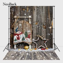 NewBack 3x5ft 5x7ft  Vinyl Cloth Snow Christmas Party Photographic background vintage holiday Photo backdrops customized B1085
