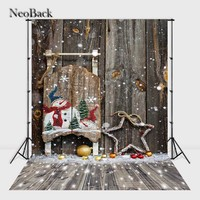 New Born Baby 3x5ft 5x7ft Snow View Santa Christmas Vinyl Background Vintage Hoiday Backdrop Customized Sizes