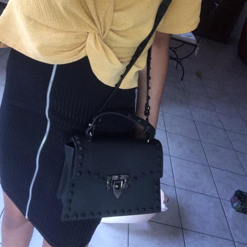 saco de geléia moda bolsa de ombro bolsas de couro pvc