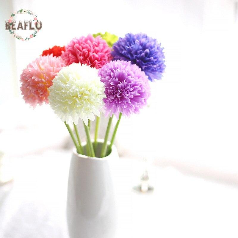 colores unid hydrangea artificial bola de la flor diy de seda accesorio para la floristera party inicio decoracin de la bo