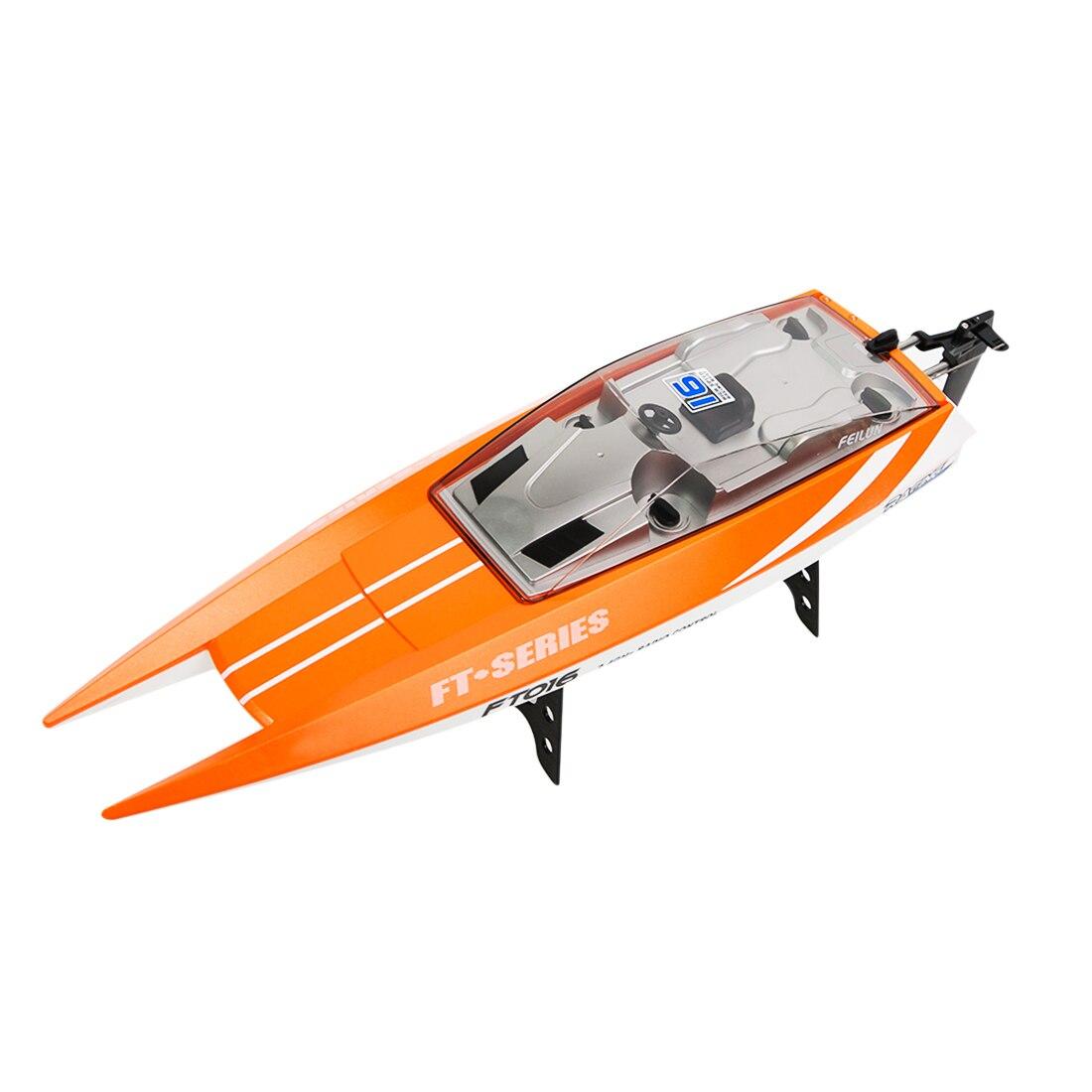 Nouveauté Feilun FT016 2.4G télécommande hors-bord RC bateau jouet pour enfants anniversaire cadeau de noël Orange/armée vert