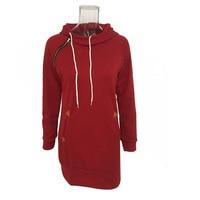 Long Hooded Coat Warm Hoodies Women Sweatshirt Breathable Sweats Outwear Women'S Pullover Hoodie Soft Cotton Spring Party