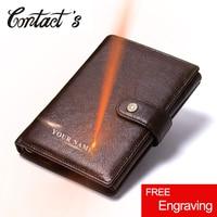 2019 Vintage Genuine Leather Men Wallet Hasp Organizer Wallets Cowhide Cover Coin Purse Design Brand Men's Credit&id Mult Wallet