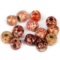 10 Pcs Pattern Big Hole beads  Wood Spacer Bead 17mm Natural Ball for Diy Bracelet /Nacklace