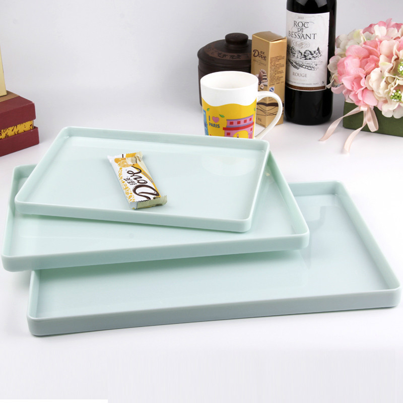 A Kitchen Is Launching An Express Lunch Service: Jade Color Melamine Serving Tray,Fast Food Trays For